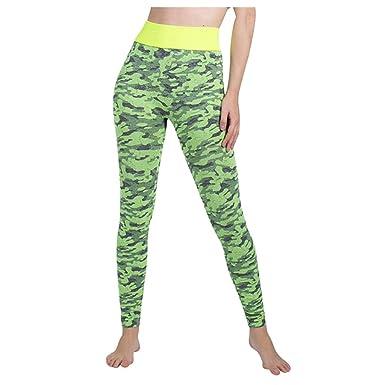 Medias Deportivas Femeninas,Yesmile Pantalones Deportivos Mujer Leggins Fitness Cintura Alta Color S/ólido Running Atletico Leggings de Estilo Casual Mujer Yoga