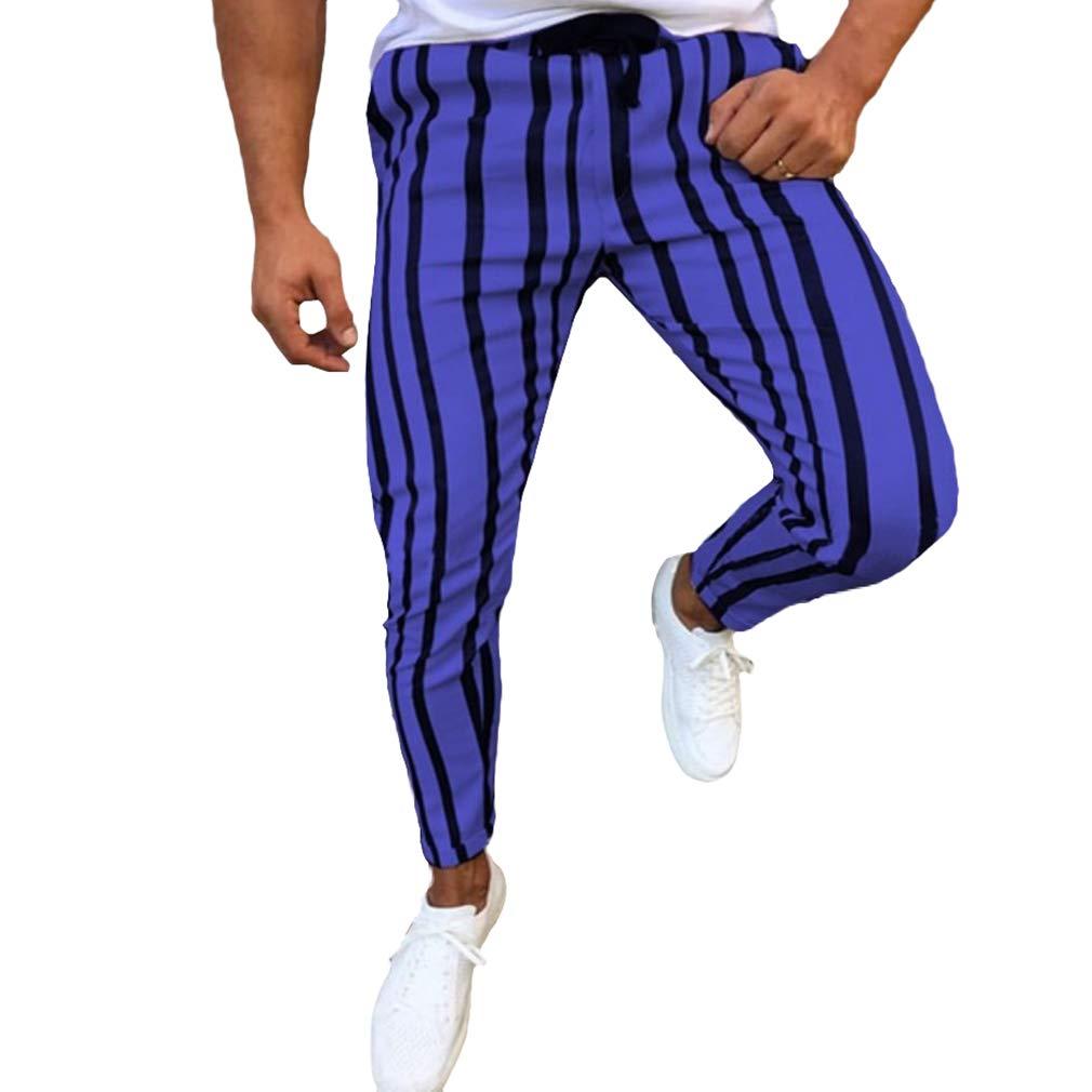 Homme Pantalon Casual Black Stripes Pantalon Classique Jogging Slim Fit Pantalon M-3XL