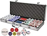 Da Vinci Premium Set Poker Set with Card-Suited Poker Chips, 6 Dealer Buttons, Cards, & Dice
