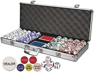 DA VINCI Professional Set of 500 11.5 Gram Clay Composite Poker Chips (Card Suited)