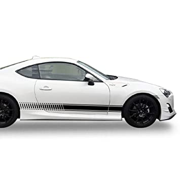 Bubbles Designs 2X Decal Sticker Vinyl Side Racing Stripes Compatible with Toyota GT86 FT86 2012-