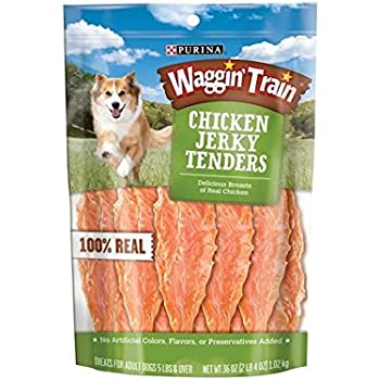 Amazon.com : Purina Waggin Train Chicken Jerky Dog Treats