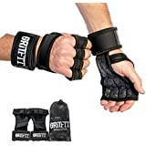 Cross Training Gloves with Wrist Support for Fitness, Weight Lifting Gloves for Gym Workouts, Powerlifting, Crossfit | Strong Hand Grip, Non-Slip, Silicone Padding to Avoid Calluses | For Men & Women