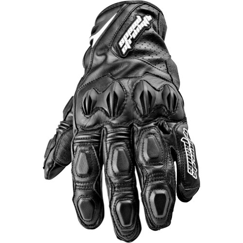 Speed and Strength Seven Sins Men's Leather Street Racing Motorcycle Gloves - Black / X-Large