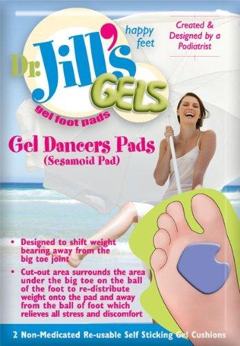 Dr. Jill's Gel Dancer's / Sesamoid Pad Cushions (Set Left/Right Pads) (1/8'' thick)