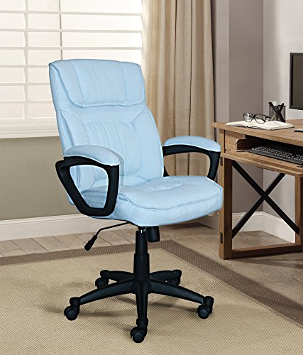 Serta Style Hannah I Office Chair, Microfiber, Blue (Chair Blue Office)