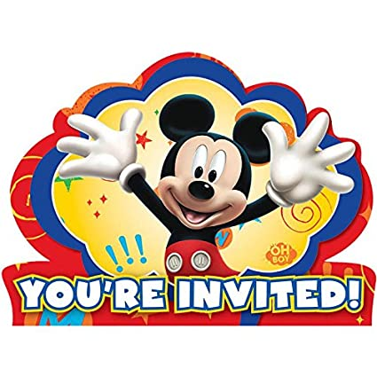 Amazon Com Mickey Mouse Invitations 8 Pack Toys Games