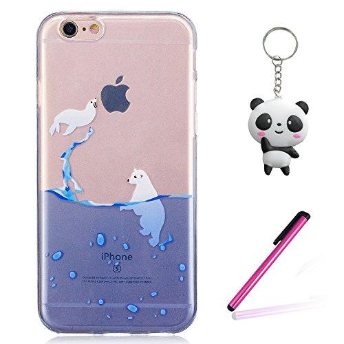 iPhone 8 Hülle Eisbär Premium Handy Tasche Schutz Transparent Schale Für Apple iPhone 8 + Zwei Geschenk
