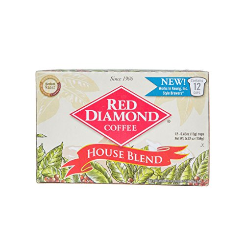 Red Diamond House Blend Single Serve K-Cup Coffee, (Pack of six 12 count boxes makes 72 servings)