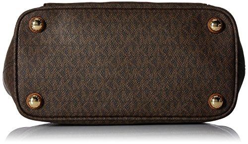 Michael Kors Jet Set Item Medium Top Zip Snap Pocket Tote - Bolsos totes Mujer Marrón (Brown)