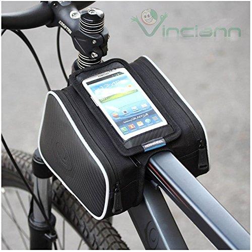 Beutel 3 Fächer für Fahrrad Bike Beständiges Wasser Fahrrad H10 Rohr Zellentür