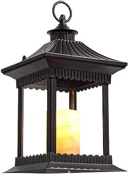 Luz de caballo Luz de vela Exterior Impermeable Césped Linterna Luz jardín Luz calle Nuevo patio chino Lámpara pie paisaje Vidrio de aluminio E14 Exterior Piscina prueba lluvia Patio Terraza Luz calle: