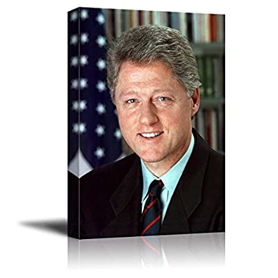 Portrait of William J Clinton (Bill Clinton) (42th President of The United States) American Presidents Series, Created By a Professional Artist, Delightful Print