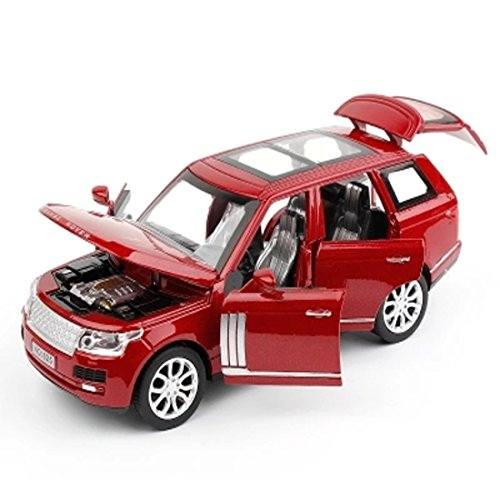 KMT Alloy Diecast Car Models Land Rover Range Rover Dia Cast Car Model (Red) (Red Rover Range)
