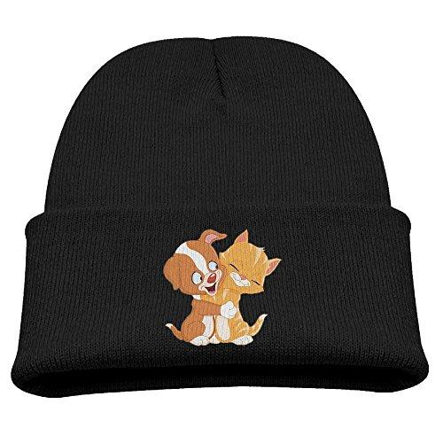 Wooly Bear Dog Costume (BaPaLa Children's Lovely Friend Dog Cat Skull Cap Beanie Soft Winter Knitted Hat)