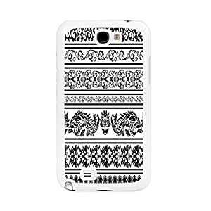 Flowers Design Hard Phone Cases Custom Design Vintage Style Art Samsung Galaxy Note 2 N7100 Floral Case Cover Skin for Women (combo black & white flower BY508)