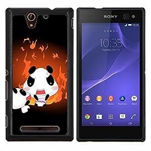 YiPhone /// Prima de resorte delgada de la cubierta del caso de Shell Armor - cvety vetochki uzory ornamenty - Sony Xperia C3