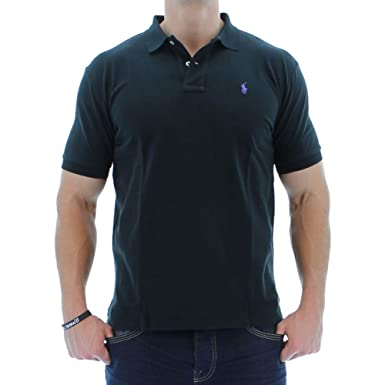 Polo Ralph Lauren Men Classic Fit Mesh Polo Shirt, Black, XS