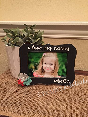 Gift For Grandma - Great Grandma - Nanny, Nannie - Personalized Frame Gift - Can Be Customized With Quote Of Your Choice