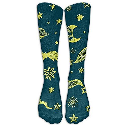 Cartoon Star Moon Men Women Casual Socks 3D Print Colorful Patterned Cool Socks Compression Socks For Travel (D&g Women Sweaters)