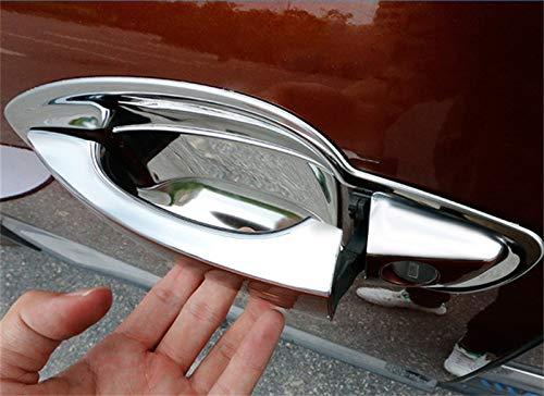 Yueng Revestimiento de la Cubierta del taz/ón de Fuente de la Puerta Lateral del Cromo del ABS para el Paquete 8 del Coche