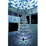 Modern Christmas Trees - 7.5' Hanging Blue Artificial Christmas Tree