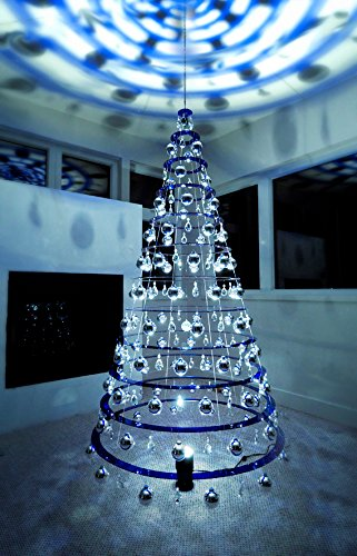 75 modern christmas tree ships fully assembled blue large