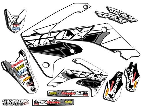Senge Graphics 2005-2007 Honda CRF 450X Fly Racing White Graphics kit - 2007 Crf 450 Plastics
