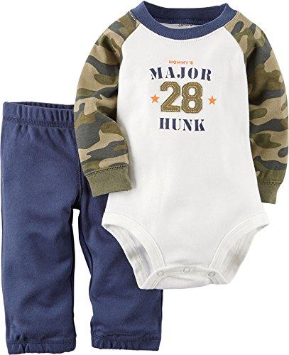 Boy Carters 2 Piece Camo (Carters Baby Boys 2-Piece Bodysuit & Pant Set Major Hunk Camo)