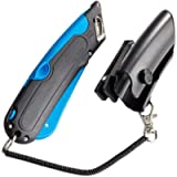 COSCO 091524 Box Cutter Knife w/Shielded Blade, Black/Blue - New