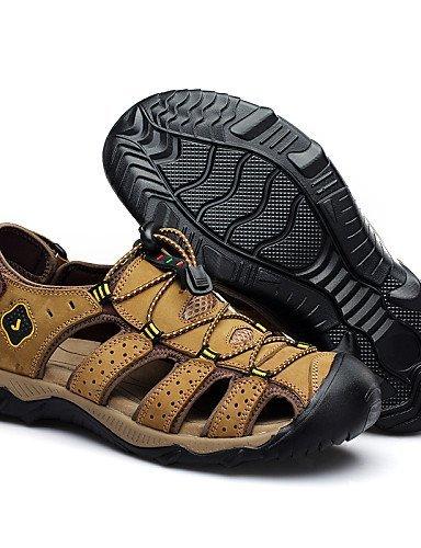 ShangYi Herren Sandaletten Herrenschuhe-Outddor / Lässig-Sandalen / Slippers-Wildleder-Braun / Khaki Khaki