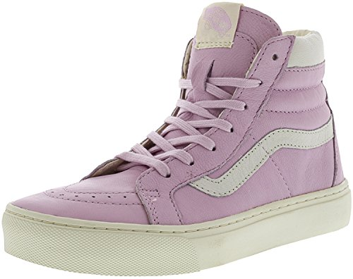Vans Womens Sk8 Hi Cup Hight Top Lace up Fashion Sneakers (Leather) Liliac Snow pjwXFQT