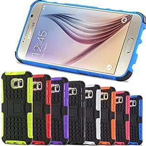 Cell Buddy 10pcs/lot! TPU+PC Kickstand Hybrid Case For Samsung Galaxy S6 S VI G9200 Impact Rugged Cover Shell For Samsung Galaxy S6 Edge --- Color:white S 6 Edge