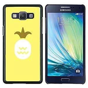 Rey Piña 420 Amarillo Smoke Weed- Metal de aluminio y de plástico duro Caja del teléfono - Negro - Samsung Galaxy A5 / SM-A500