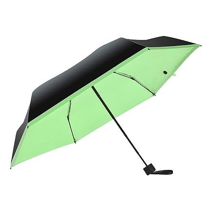 MMRM Moda Mini Paraguas de bolsillo de las mujeres Mini compacto 5 plegable Super ligero portátil