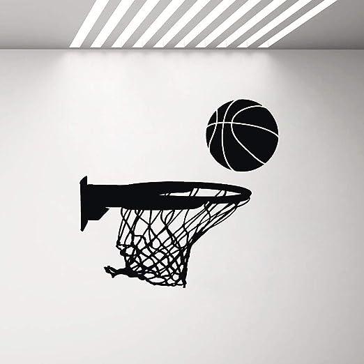 Ajcwhml Canasta de Baloncesto Vinilo Adhesivo de Pared Deportes ...