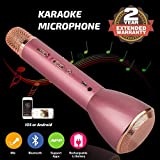 #3: Wireless Karaoke Microphone, Handheld Bluetooth Speaker Player Recording Machines for Kids Adult Music Singing Playing, Home KTV Usb Karaoke System Support IPhone/Android/IOS/Smartphone