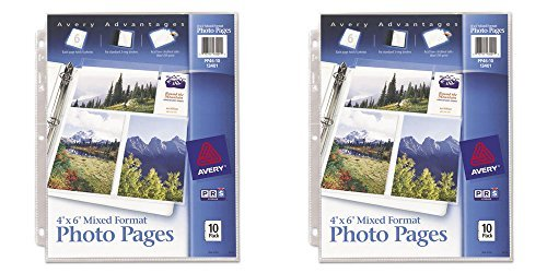 Avery Mixed Format Photo Pages, Acid Free, Pack of 10 (13401), 2 - Avery Photo