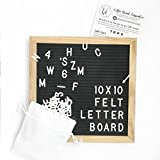 10x10 Black Felt Letter Board, Vintage Oak Marquee Sign, Changeable Message Sign With White Letters, Display Announcement Boards For Office, Restaurant Menu, Motivation Quotes, Baby Bridal Shower Gift