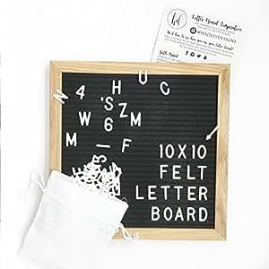 10x10 black felt letter board vintage oak marquee sign changeable message sign. Black Bedroom Furniture Sets. Home Design Ideas