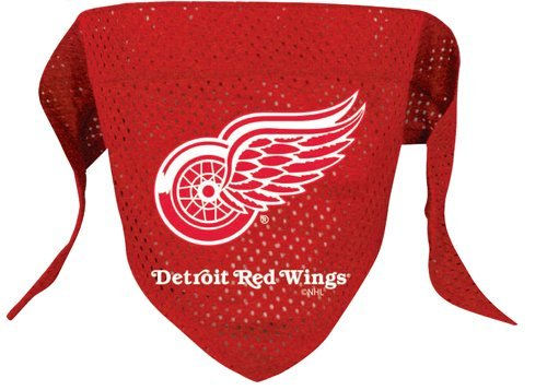 Detroit Red Wings Pet Dog Hockey Jersey Bandana M/L, My Pet Supplies