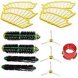 Side Brush Beater Flexible Bristle Brushs 6pcs Filter Kit For iRobot Roomba 500 Series Vacuum Cleaner