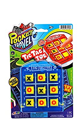 2GoodShop Pocket Travel Tic Tac Toe by JA-RU | Road Trip Games for Kids Pack of 1 | Item #3256