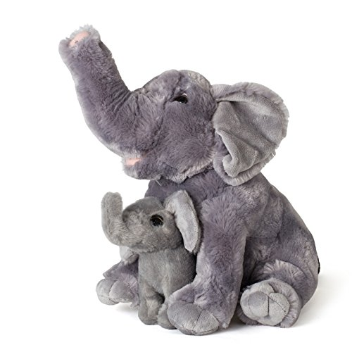 Mom And Baby Elephants Plush Toys 2 Stuffed Elephants 11