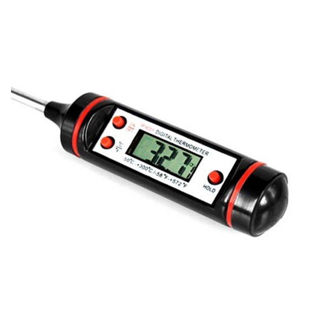 J * MYI Lebensmittel Sonde Fleisch Digital Kochen Thermometer Küche Grill weiß