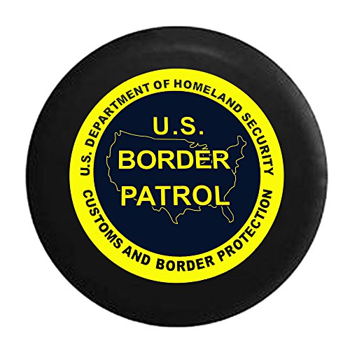 Homeland Security Seal - US Border Patrol - Dept of Homeland Security Seal Spare Jeep Wrangler Camper SUV Tire Cover 29 in