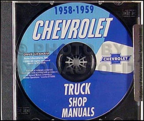 1958-1959 Chevrolet Pickup and Truck CD-ROM Repair Shop ()