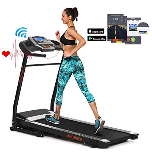 ANCHEER Treadmill, Treadmills for Home with Incline Walking Running Jogging Running Electric Motorized Machine, 12 Preset Programs and Smartphone APP Control for Home Gym Cardio Fitness