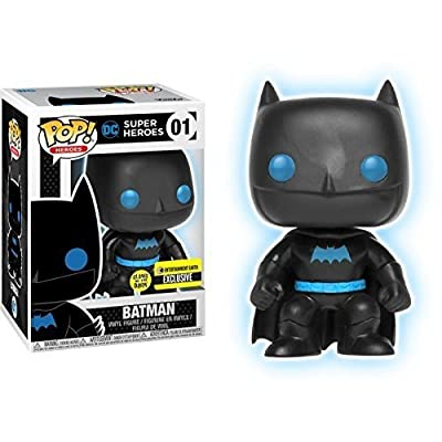 Funko Pop! Vinyl Justice League Batman Silhouette Glow in The Dark Entertainment Earth Exclusive: Toys & Games