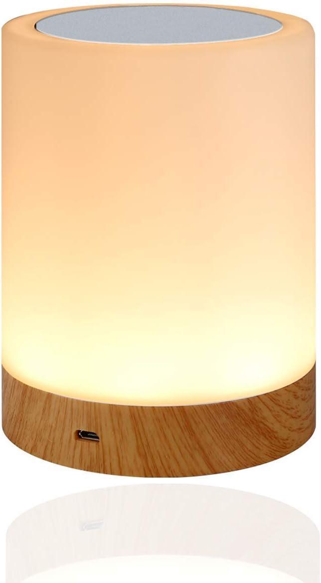Amouhom Lámpara Nocturna de Control Táctil, lamparas de mesita de noche Portable con Batería Recargable, Lámparas para Dormitorio, 6 Colores Y 16 Cambiantes, el Mejor Regalo para Niños y Amigos